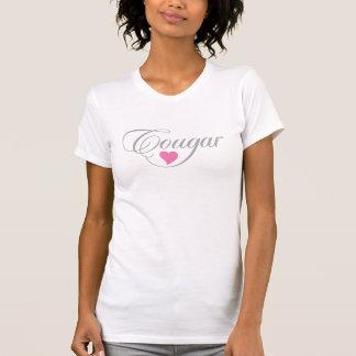 Argent et rose de T-shirt de dames d'amour de puma