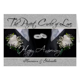 Argent gai et noir de carte d anniversaire de mari