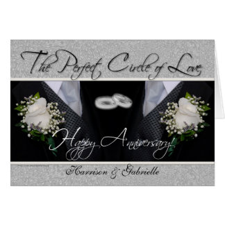 Argent gai et noir de carte d'anniversaire de mari