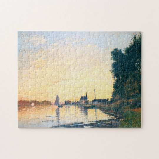 Argenteuil Late Afternoon Monet Fine Art Jigsaw Puzzle