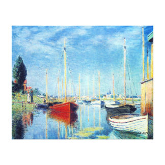 Argenteuil Yachts - Claude Monet Canvas Print