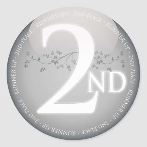 Argentez la deuxième 2ème) récompense d'endroit ( autocollant rond