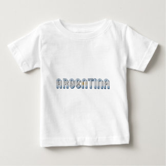Argentina Argentine Flag Colors Typography Baby T-Shirt