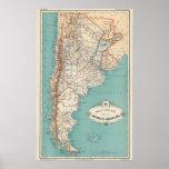 Argentina Atlas Poster