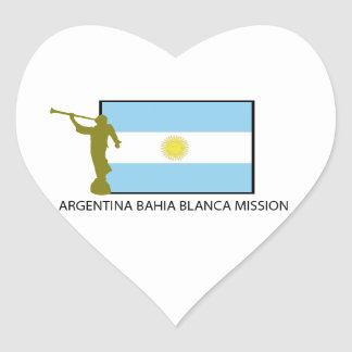 Argentina Bahia Blanca Mission Heart Sticker