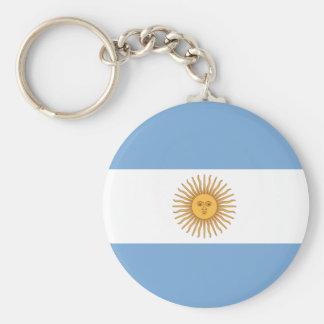 Argentina Basic Round Button Keychain