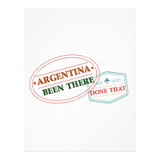 Argentina Been There Done That Letterhead