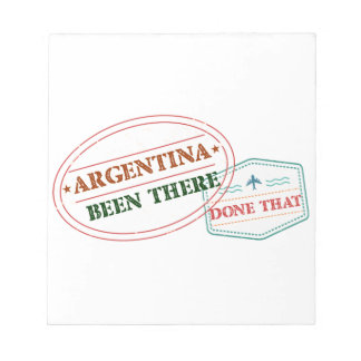Argentina Been There Done That Notepad