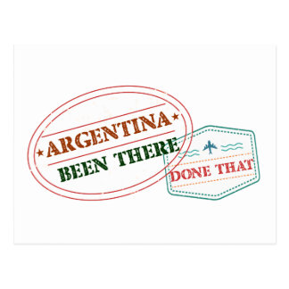 Argentina Been There Done That Postcard
