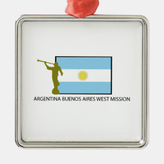 ARGENTINA BUENOS AIRES WEST MISSION LDS METAL ORNAMENT