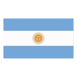 Argentina Business Card Template