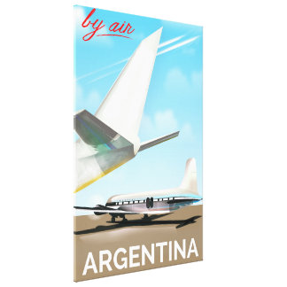 """Argentina """"By Air"""" vintage flight poster Canvas Print"""