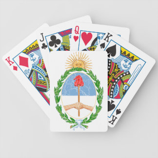 Argentina Coat Of Arms Bicycle Playing Cards