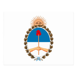 Argentina Coat of Arms Postcard