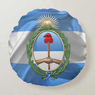 Argentina Coat of arms Round Pillow