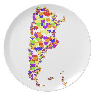 Argentina Corazon Map Plates