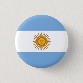 Argentina Flag 1 Inch Round Button
