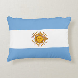 Argentina Flag Accent Pillow