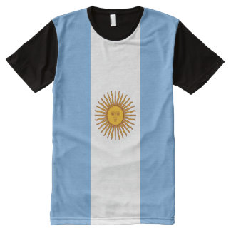 Argentina Flag All-Over-Print T-shirt