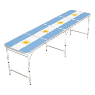 Argentina Flag Beer Pong Table