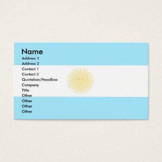 Argentina Flag Business Card