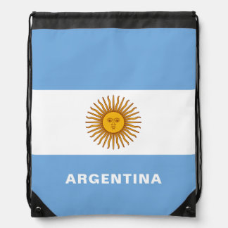 Argentina Flag Drawstring Backpack