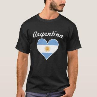 Argentina Flag Heart T-Shirt