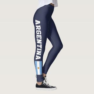 Argentina flag leggings for sport fitness yoga