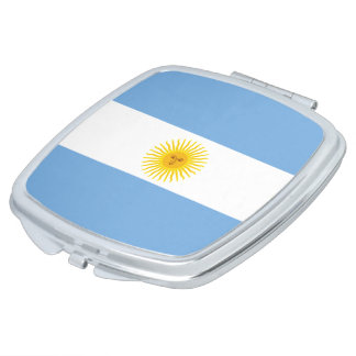 Argentina Flag Makeup Mirrors