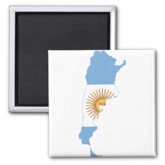 Argentina Flag map AR Magnet