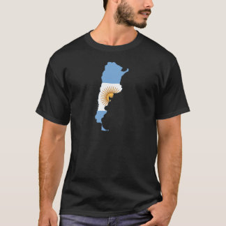 Argentina Flag map AR T-Shirt