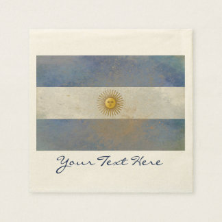 Argentina Flag Party Napkins Disposable Napkin