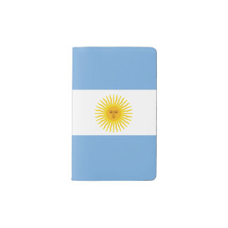 Argentina Flag Pocket Moleskine Notebook