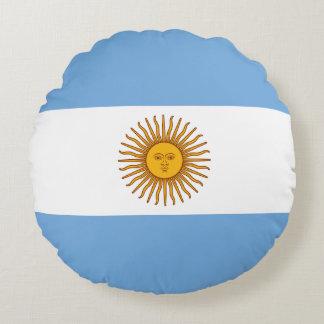 Argentina Flag Round Pillow