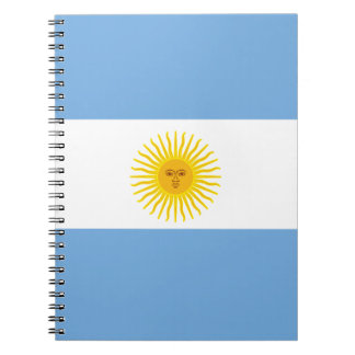 Argentina Flag Spiral Note Book