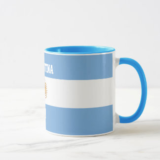 Argentina Flag Sun of May - Favorite Player Number Mug