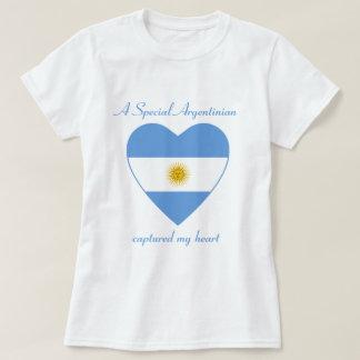 Argentina Flag Sweetheart T-Shirt