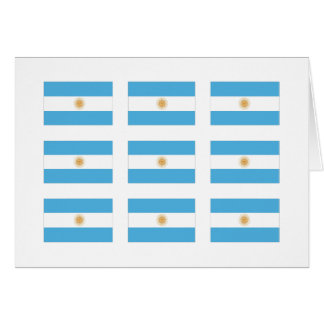 Argentina Flags Card