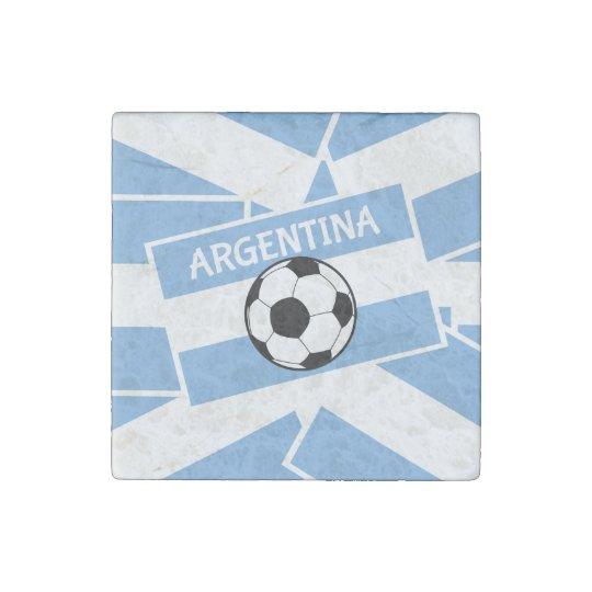 Argentina Football Stone Magnets