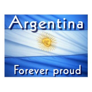 argentina forever proud postcard