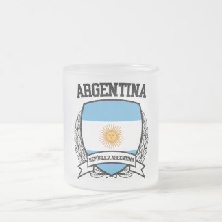 Argentina Frosted Glass Coffee Mug