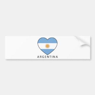 Argentina Heart drapeau Soccer Autocollant De Voiture