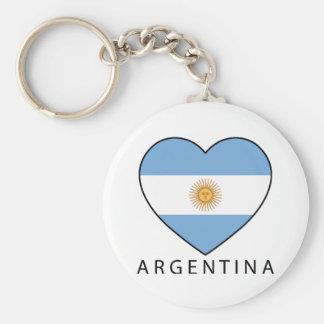 Argentina Heart drapeau Soccer Porte-clé Rond