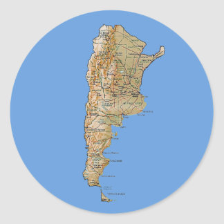 Argentina Map Sticker