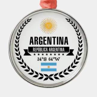 Argentina Metal Ornament
