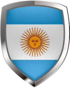 94ed5c82368 Argentina Mettalic Emblem Trucker Hat