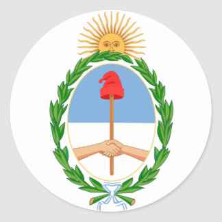 Argentina Official Coat Of Arms Heraldry Symbol Sticker