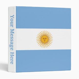 Argentina Plain Flag Vinyl Binders