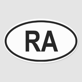 "Argentina ""RA"" Oval Sticker"