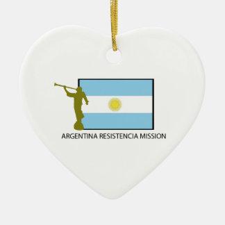 ARGENTINA RESISTENCIA MISSION LDS CERAMIC ORNAMENT